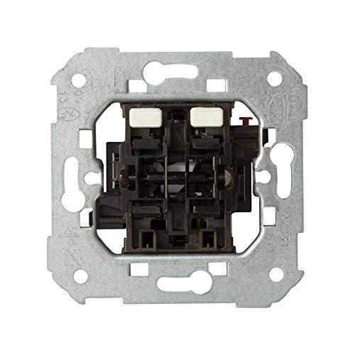 Simon 75331-39 - Juego de 2 interruptores pulsadores para persianas, 10A, 250V, con sistema de cierre