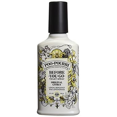 Poo-Pourri Before-You-Go Toilet Spray 8 oz Bottle, Original Citrus Scent