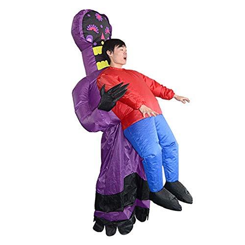 Opblaasbaar Sensenmann-kostuum voor Halloween-party's, werkt op batterijen, eenheidsmaat, geschikt voor de meeste volwassenen Geist
