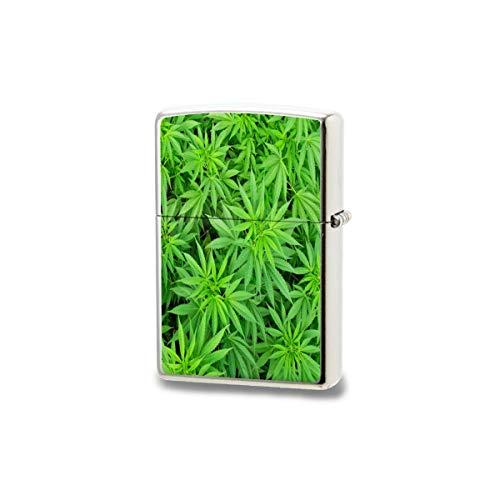 Bulinlin Mechero, marihuana, marihuana, marihuana, marihuana, maceta de marihuana, encendedor a prueba de viento, para camping, fuego, caza, mochilero, senderismo, cigarrillos, vela