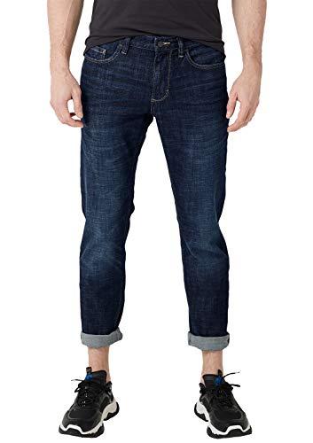 s.Oliver 13.904.71.5588 Jeans Straight, Blu (Blue Denim Stretch 56z4), W32 (Taglia Produttore:...