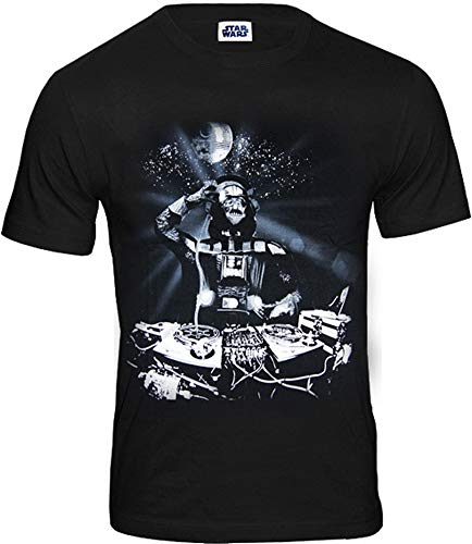Star Wars original DJ Darth Vader Krieg der Sterne Herren T-Shirt schwarz CODI Gr. S-XL (L)