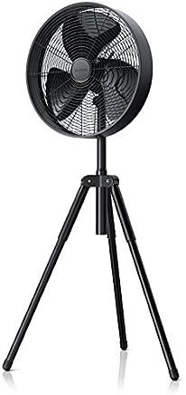 Brandson – Ventilatore a piantana treppiede | New line 2019 | 3 velocità | Diametro 40cm | altezza regolabile da 116 a 126cm | 58dBA | Funzione oscillazione ca. 80° | Inclinabile di 20° | Metallo