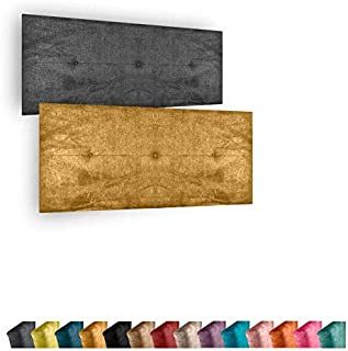 Cabecero de Cama Modelo Marbella tapizado en Tela Nido Aqualine Antimanchas. Altura 50 cm. Color Rojo. para Cama de 150 (Medidas 160x50x5) Pro Elite.