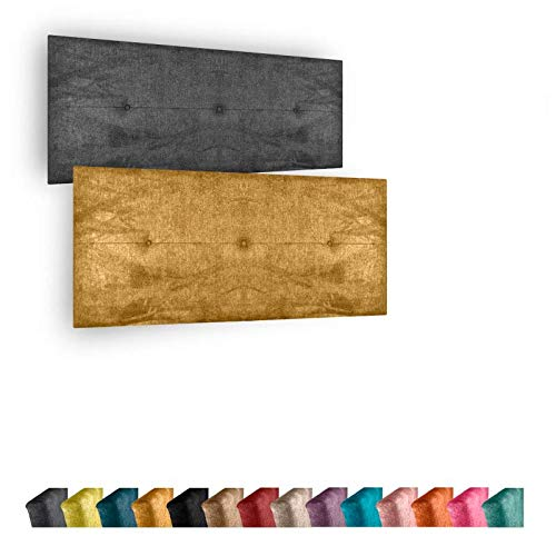 Cabecero de Cama Modelo Marbella tapizado en Tela Nido Aqualine Antimanchas. Altura 50 cm. Color Gris. para Cama de 180 (Medidas 190x50x5) Pro Elite.