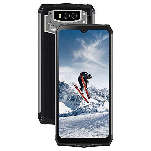 Blackview BV9100 Outdoor Smartphone, 13000mAh Akku 30W Schnellladen mit 6,3 Zoll FHD, 16MP+16MP 4GB RAM+64GB ROM Octa core 2.3GHz, IP68/IP69K Android 9.0 BT5.0 GPS NFC 4G Dual SIM Handy Schwarz