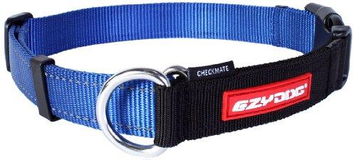 EzyDog Checkmate Hundehalsband - Halsband Hund - Zugstopp Halsband für Hunde - Zughalsband für hunde - Trainings und Dressurhalsband. Schlupfhalsband für Große, Mittlere und Kleine Hund (M, Blau)