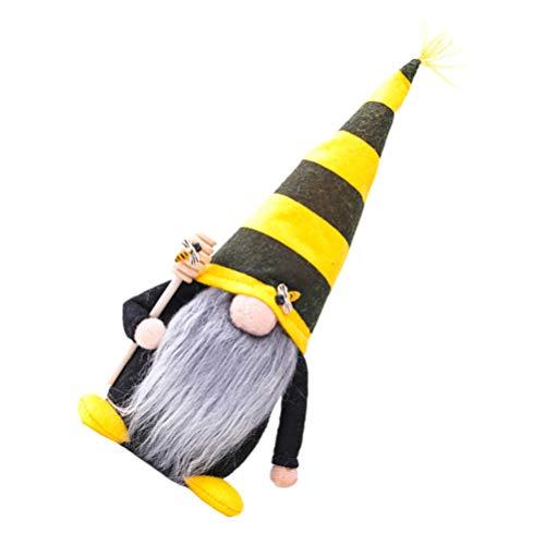 SOIMISS GNOME mit Waben Sticks Frühling GNOME Figur Plüsch Gestreiften Skandinavischen Tomte Nisse Schwedisch Honig Biene Elf Dekoration