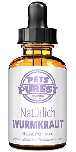 Pets Purest 100% Natürliche Wurm Kraut Pet-Liquid Alternative zu ekligen chemischen Produkten Vorteile Darmhygiene Für Hunde Katzen Geflügel Vögel Frettchen Kaninchen & Haustiere 2 Jahre Liefern (DE)