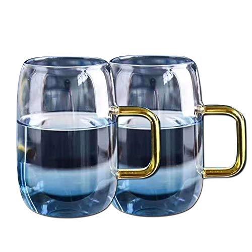Bruchfeste Glasschale für Kaffee/Bier/Milch/Tee/Wasser, spülmaschinenfest, 2er Pack