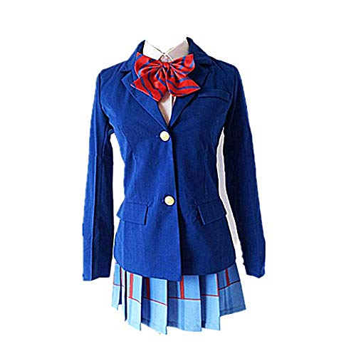 charous Disfraz de Anime Love Live Cosplay Disfraz de Halloween Uniforme escolar para mujer
