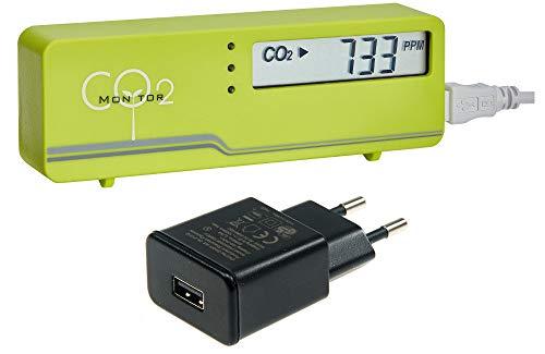 TFA Dostmann de CO2 Multimètre airco2 SmartControl Mini Vert TFA 31.5006.04 + incl. Prise d'alimentation