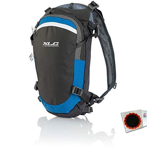 XLC Trinkrucksack BA-S83 15Liter grau blau Weiss + SCHLAUCHFLICKEN