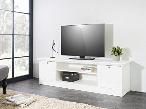 Eternity-Moebel TV-Board Sideboard Natura in Weiss 160 x 48 x 45 cm Landhausstil