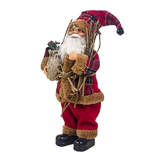 Schimer Weihnachtsmann 33 cm Höhe Dekofigur zu Weihnachten handgefertigt, Christmas Paradise Dekofigur Santa Weihnachtsmann Nikolaus