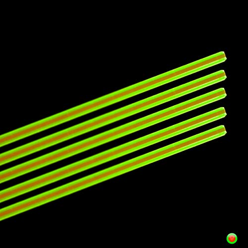"""Fibras de substituição TRUGLO para miras de fibra óptica de arma de fogo e arco e flecha. 198 cm de diâmetro (duas cores), 14 cm de comprimento"""", multi (TG05)"""