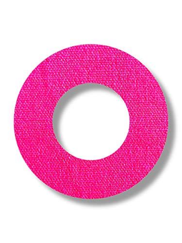 FixTape atmungsaktive Sensor-Tape-Ringe für Freestyle Libre 1 & 2 I runde selbstklebende Patches mit Loch für Glukose-Sensor I hoher Trage-Komfort I hautfreundlich wasserfest I 7 Stück (Pink)