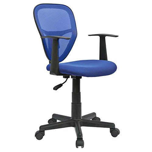 CARO-Möbel Schreibtischstuhl Kinderdrehstuhl Bürostuhl Drehstuhl Studio in blau mit Armlehnen, höhenverstellbar