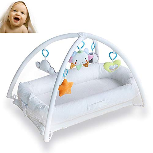 Best Price WDXIN Travel Cot with Folding Adjustable Portable Crib Baby Bed Newborn Bed Infant Latex ...