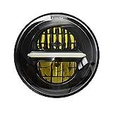 5 3/4 5,75 '' faro proiettore LED rotondo, faro moto Harley Davidson Sportster(Nero)
