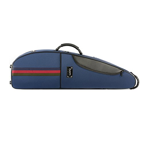 BAM SG5003S Saint Germain Classic III Ultra-light weight PVC Violin Case in Blue for excellent protection against weather changes, reinforced by a water resistant fabric,and PVC foam core