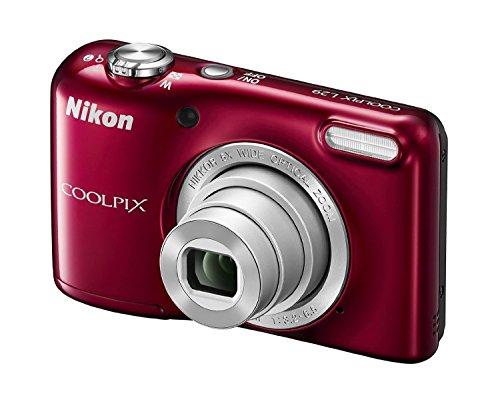Nikon Coolpix L29 Digitalkamera (16 Megapixel, 5-fach opt. Weitwinkel-Zoom, 6,9 cm (2,7 Zoll) LCD-Display, HD) rot