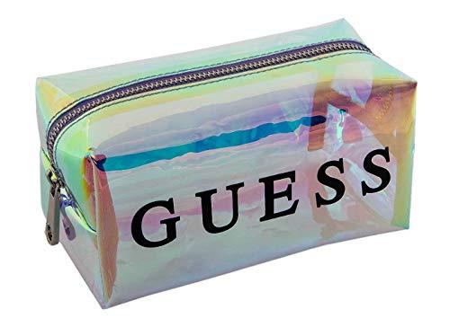 GUESS Damen Kosmetiktasche - holografisches Design mit Guess Logo, 10x17x10 cm (HxBxT)