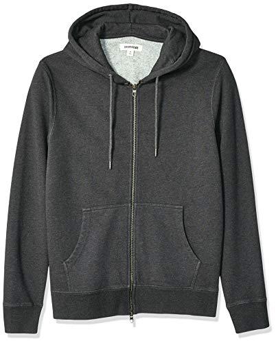 Amazon Brand - Goodthreads Men's Fullzip Fleece Hoodie, Charcoal Heather Medium