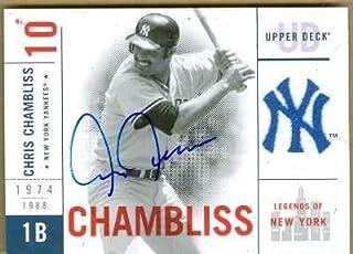 Chris Chambliss autographed Baseball Card (New York Yankees) 2001 Upper Deck Legends of New York #100