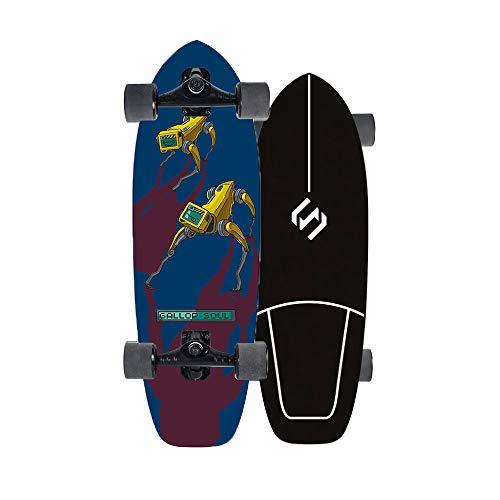 VOMI 29'' Land Surfskate Completo Tabla De Monopatín, CX4 Monopatin Niños Surf Skate Tabla Completa con Rodamientos ABEC-9 De 7 Capas Arce, Monopatín para Adultos Principiantes Y Profesionales,a