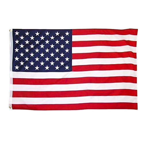 Angoter 1PC Gran Bandera De Gran Bandera De Estados Unidos Bandera Impresa Nacional De Los Estados Unidos De Poliéster Bandera con Arandelas De Latón 35.4x59 Pulgadas