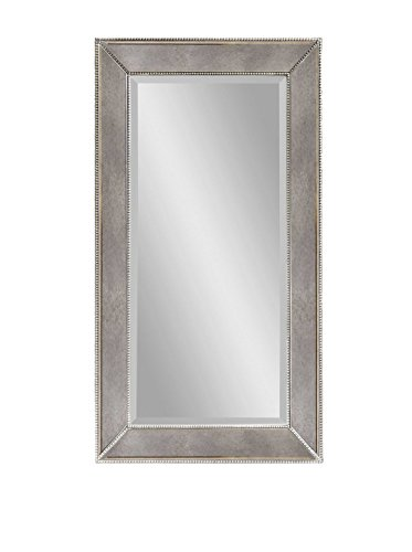 Bassett Mirror Beaded Wall Mirror, 48-Inch, Antique Mirror