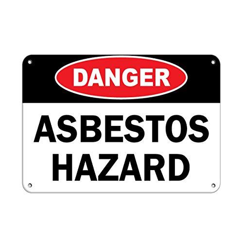 Gefahrengefahr, Asbest-Gefahrenschild, Asbestaufkleber, Warnaufkleber, Hausdeko, Fenster, Auto, Sicherheitshinweise für das Auto, 20,3 x 30,5 cm