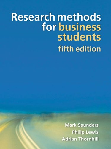 Research Methods for Business Students (5th Edition)