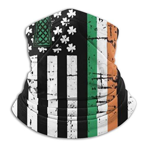 Irish American Flag Ireland Heritage Pride Unisex Seamless Rave Bandana Neck Gaiter Tube Headwear Bandana Summer UV Protection Neck Gaiter Face Scarf Mask