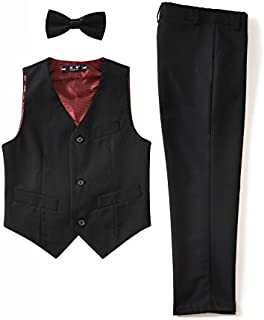 YuanLu 3 Piece Kids Boys' Formal Blazer Vest and Pants Dress Suits Set for Party