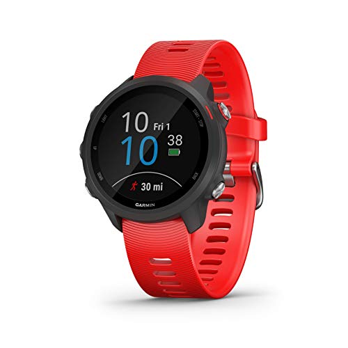 Garmin Forerunner 245 Music, GPS Running Smartwatch with Music and Advanced Dynamics, Lava Red (No-Cost EMI Available)