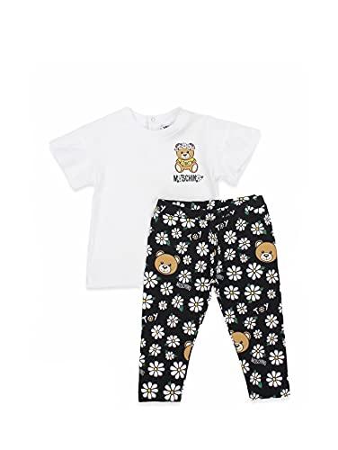 Moschino Baby Girl - Conjunto de camiseta y leggings de algodón para...
