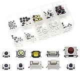 QTETAK 200 Pcs 10 Value Micro Momentary Tactile Push Button Switch Tact Assortment Kit