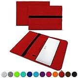 UC-Express Sleeve Hülle Odys Trendbook 14 Pro Tasche Filz Notebook Cover 14' Laptop Schutz Hülle, Farbe:Rot