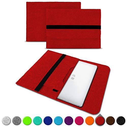 UC-Express Sleeve Hülle kompatibel für Trekstor Primebook C13 / P14 / P13 / P14B Tasche Filz Notebook Cover 13,3-14 Zoll Laptop Hülle, Farben:Rot