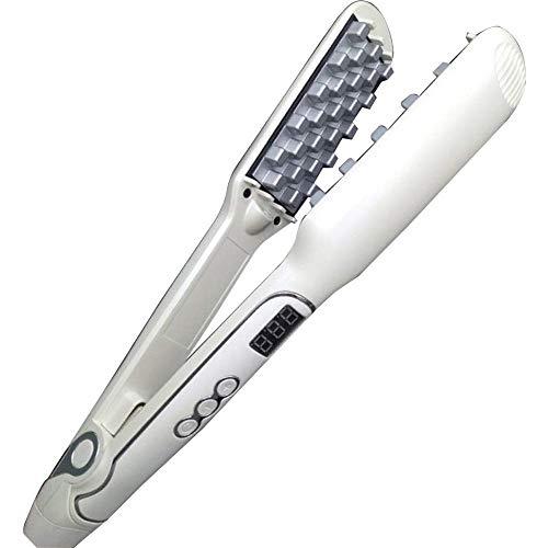 HLWAWA Cepillo alisador eléctrico para el cabello, Peine para alisado rápido para hombres, Plancha...