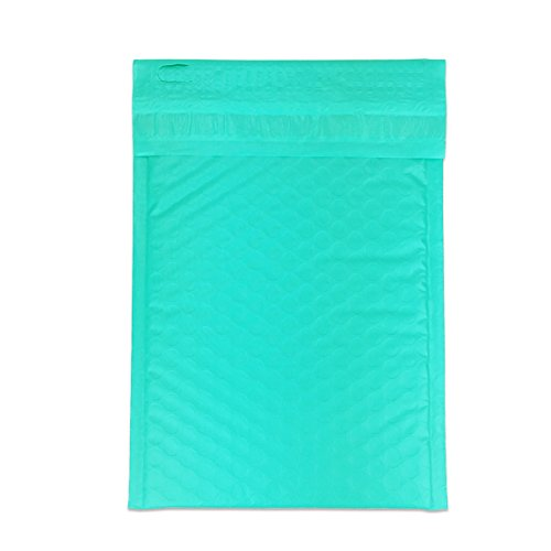 """Beauticom TEAL (50 Pieces) #000, 4""""x8"""" Self-Seal Poly Bubble Mailer Envelopes Eco Friendly Lightweight Made In The USA Photo #6"""