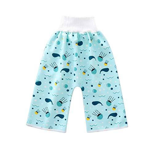 Leikance Baby Windel-Shorts, wiederverwendbar, auslaufsicher, saugfähig, waschbar, weich, atmungsaktiv Gr. Medium, blau