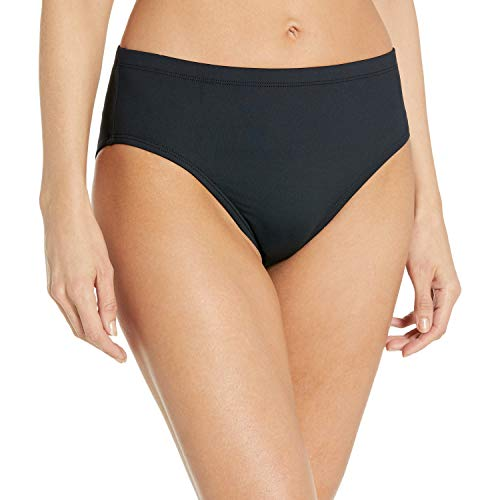 La Blanca Women's Plus-Size Island Goddess High Waist Bikini Swimsuit Bottom, Black, 16w