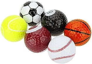 Funny Novelty Practice Golf Balls 6Pack for Kids Men Woman , Christmas Birthday Gift (Balls)