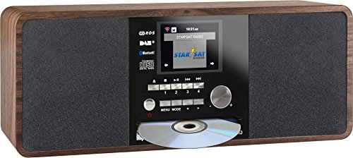 Imperial 22-235-00 Dabman i200 Internet-/DAB+ Radio mit CD-Player (Stereo Sound, UKW, WLAN, Aux In, Line-Out, Kopfhörer Ausgang, Inklusiv Netzteil) braun