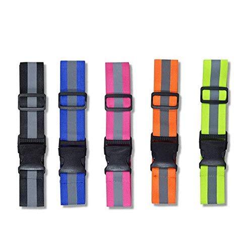 Cinturón reflectante de seguridad, 5 colores de alta visibilidad, correa reflectante ligera para correr, caminar, ciclismo, se adapta a mujeres, hombres, niños