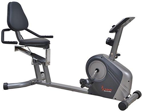 Sunny Health & Fitness Magnetic Recumbent Bike...