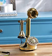 $99 » Sponsored Ad - New Brass Chrome King Look Candlestick Rotary dial Vintage Telephone Handmade with Free Sunglasses Worth 18usd